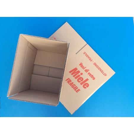 Scatola di cartone 24 vasi da gr. 500 con tramezzo