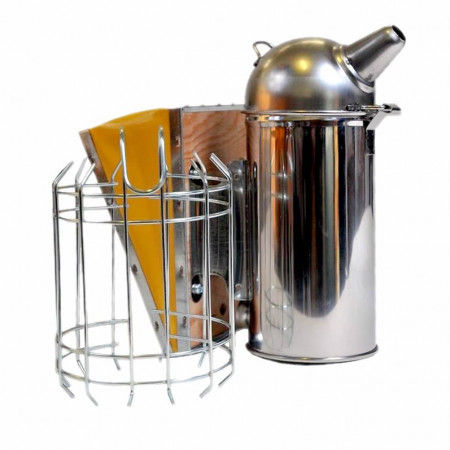 Stainless steel 8 cm smoker with protection grille