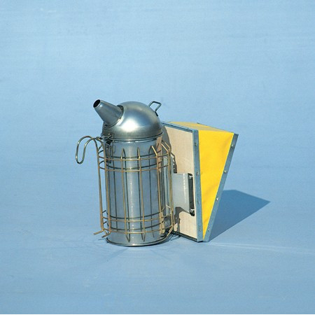 Galvanised 8 cm smoker with protection grille