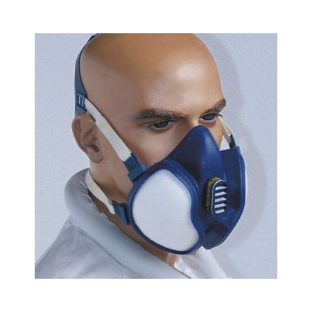 Mask-breathing apparatus for beekeeping treatments (without goggles)