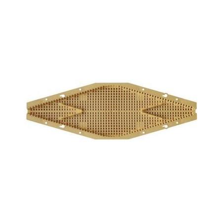 Diamond-shaped bee escape on 43x50 board