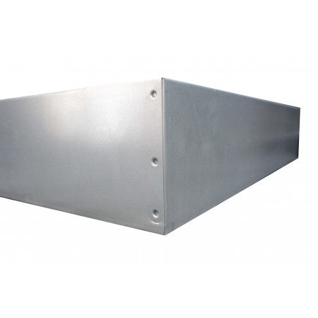 Punched metal sheet lid for hives