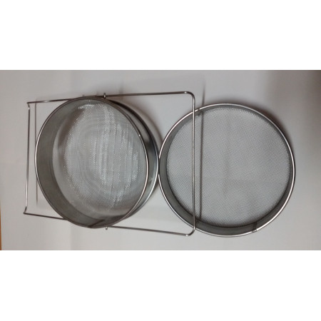 Extensible stainless steel double filter, 24 cm diameter