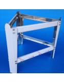 Supporto per maturatore da 200 kg, mm 450,  in robusto acciaio inox (smontabile)