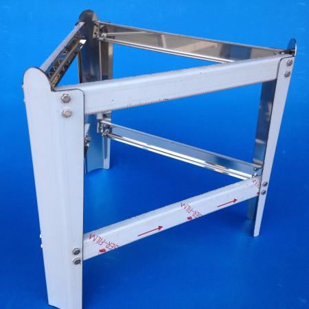 Supporto per maturatore da 100 kg,  mm 370, in robusto acciaio inox (smontabile)