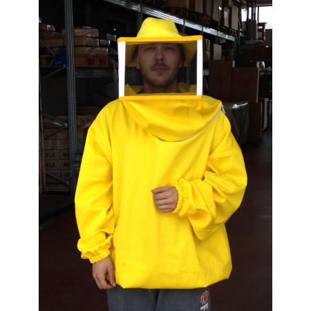 Square blouse mask, yellow, XXXL (ultra size)