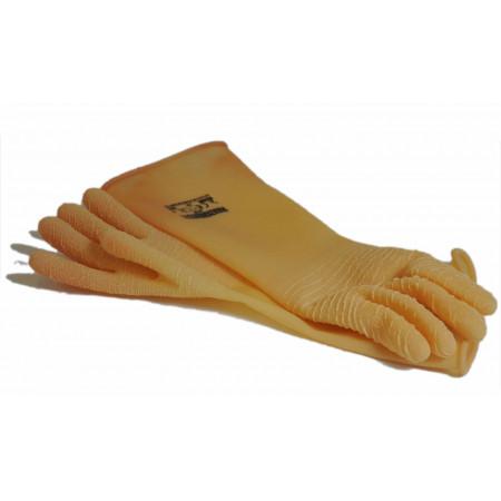 "Reinforced latex gloves, ""Parazigrinati"", long sleeve"