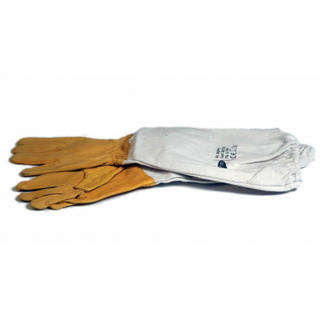 Yellow eco-leather gloves