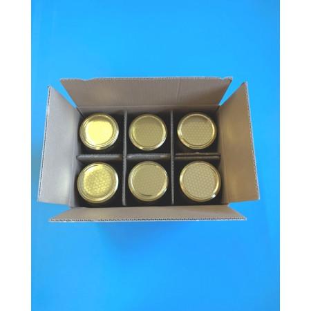 Cardboard box for six 1000 g jars...
