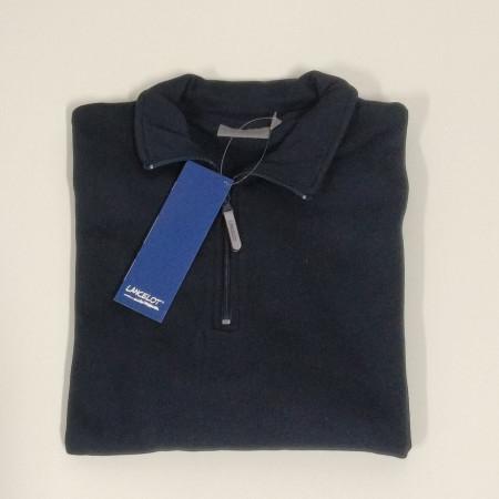 Half zip sweatshirt (blue-gray) LARGE...