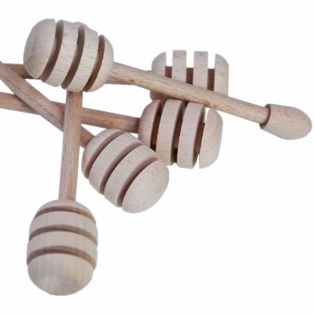 Wooden honey dipper  9 cm