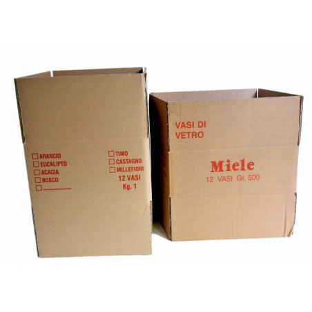 Scatola di cartone 12 vasi da gr. 500