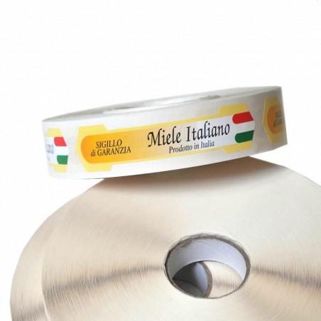 Sigillo grande di garanzia miele italiano (confez. da 1000 pz)