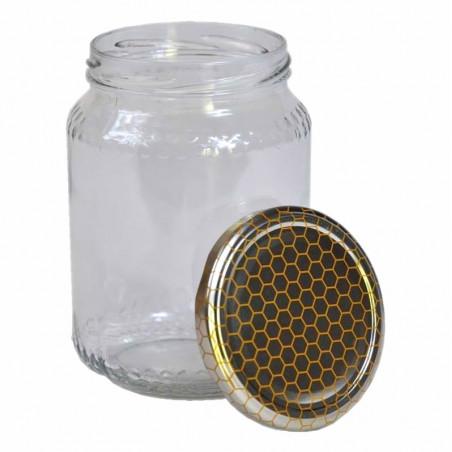 Vaso in vetro gr. 1000 completo - conf. da 12 pezzi