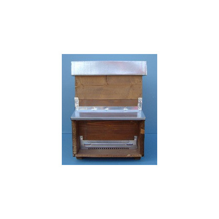 Full migration 12-comb anti-varroa hive, with super-hive and waxed frames.