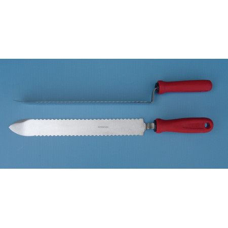 Serrated uncapping knife, 28 cm, stainless steel