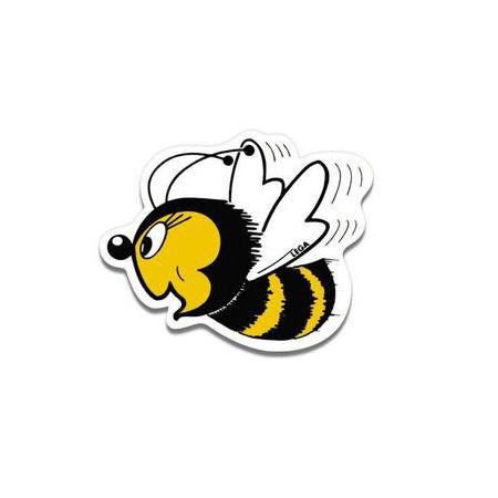 """Plastic sticker """"Happy Bee"""", small"""