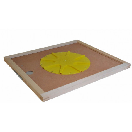 Round plastic bee escape, 8 exits, 50X50 cm board