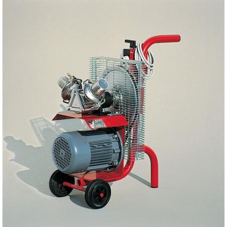 Pompa per miele, rotore neoprene ø90mm, due attacchi inox ø50mm, motore monofase