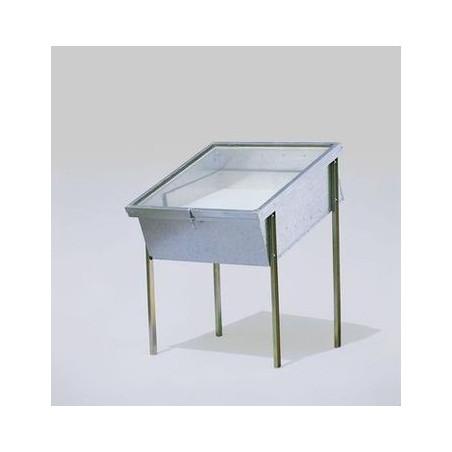 Sceratrice solare piccola in ferro zincato, doppio vetro (650x650mm)