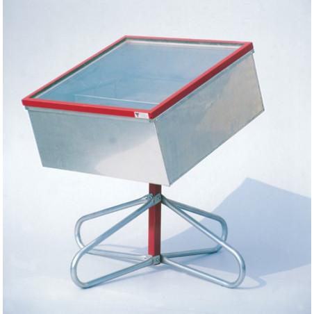 Sceratrice solare 'Solaris Inox' a doppia parete in inox, doppio vetro (700x700mm)