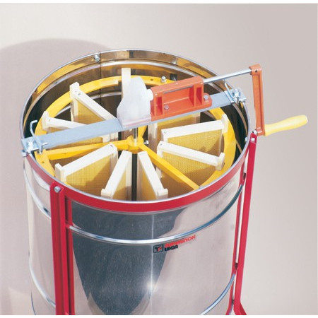 "Radial manual honey extractor ""Orange"", plastic cage, 9 D.B. super frames, type E."