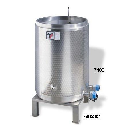 Sterilizzatore per cera, tripla parete inox, cap. 500kg