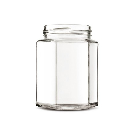 Vaso vetro esagonale ml 190 (conf. da 38 pezzi) completo di capsula