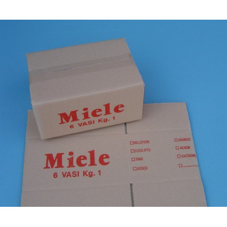 Cardboard box, 6 1000g-jars