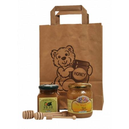 Busta sacchetto carta con orsetto e scritta Honey