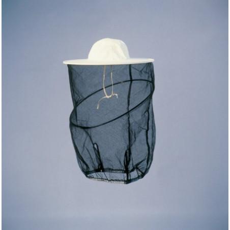 Maschera rotonda a cappello in tulle