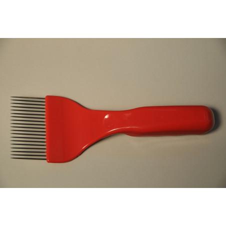 Forchetta per disopercolare, plastica, denti acciaio
