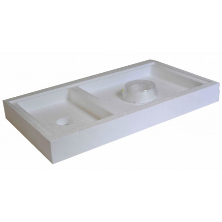 Polystyrene comb-covering feeder for bee box