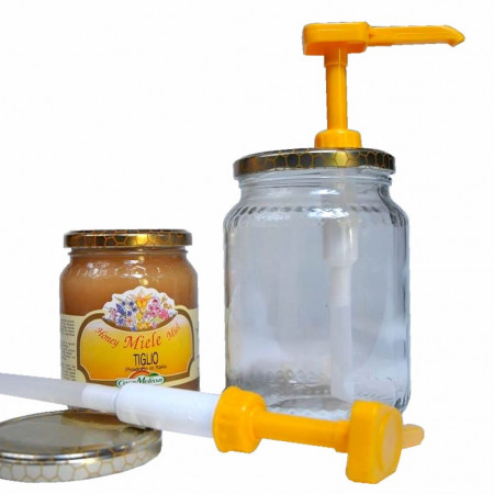 Dispenser for liquid honey (with two caps)
