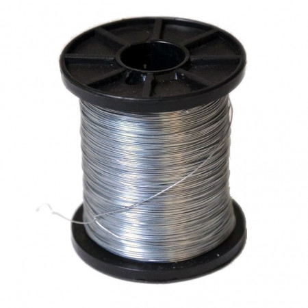 Galvanised wire coil, approx. 14 kg.